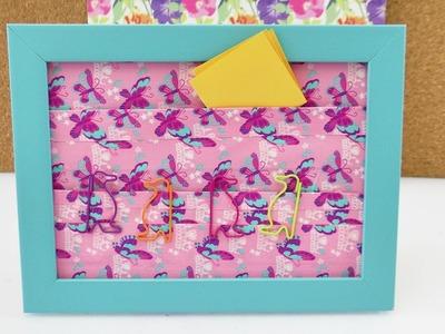 Aufbewahrung für den Schreibtisch   Bilderrahmen praktisch gestalten   DuckTape Taschen fürs Büro