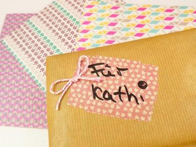 Süße Geschenkverpackung mit Washipaper | Geschenke kreativ einpacken | Washi Sheets Trend Idee