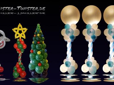 Balloon decoration light, christmas wedding, Ballon Licht Dekoration, Hochzeit Weihnachten