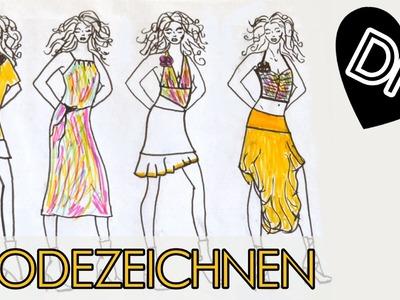 DIY Modezeichnen leicht gemacht, Tipp Trick einfach für Anfänger