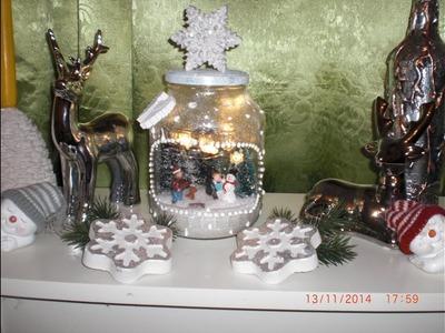 Winterglas Variante 3 - Winter im Glas. Weihnachtsglas Weihnachtsdeko