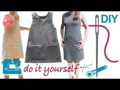 """DIY Kleid nähen für Anfänger – Kleid ohne Arm und ohne RV – Zierstoff Schnittmuster """"Milena"""""""