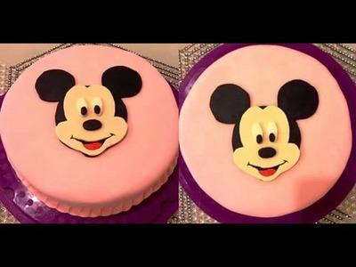 DIY: Micky Maus Torte.Motivtorte.Geburtstagstorte.micky mouse cake
