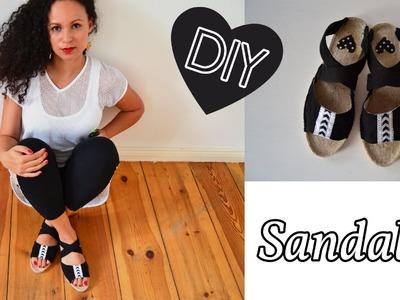 DIY Sandalen selbst machen mit Espandrilles Sohlen - Prym Contest Teil 2