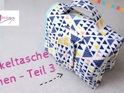 Kombinierte Wickeltasche. Windeltasche mit Unterlage selber nähen #Teil 3 – DIY Eule