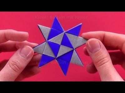 Fröbelsterne Anleitung: Einfacher Fröbelstern. Sterne basteln Weihnachtsdeko: Weihnachtsstern falten