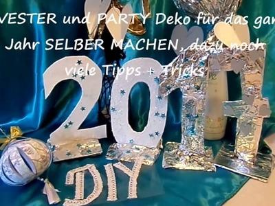 DIY: PARTY DEKO; SILVESTER-Deko SELBER Machen, Upsycling, fast kostenlos BASTELN .Last minute