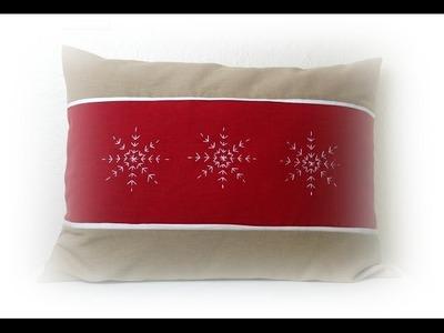 Käthes Nähstunde DIY Kissenbezug Schneeflocke. Pillowcase snowflake  Nähen für Anfänger