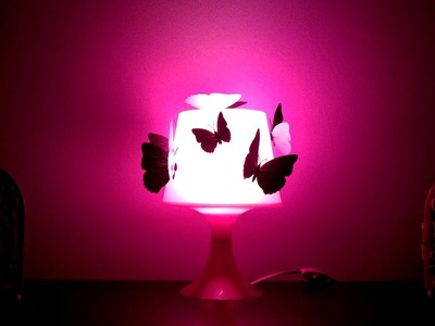 Lampe pimpen mit Schmetterlingen DIY - Woolpedia®