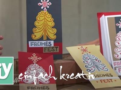 Weihnachtspost und Tischkarten mit DIY-Stempeln   DIY einfach kreativ