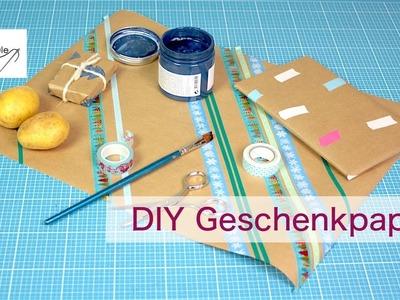 DIY Geschenkpapier & VERLOSUNG Garn Set