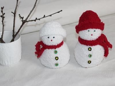 DIY. Schneemänner aus Socken. Snowmen socks