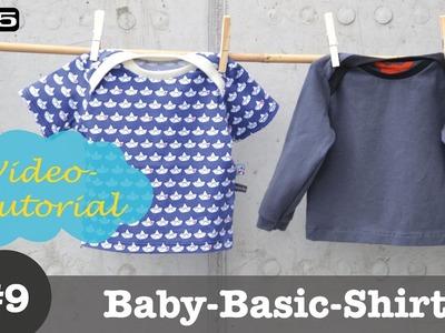 Baby Shirt mit amerikanischem Ausschnitt selber nähen - DIY-Näh-Tutorial