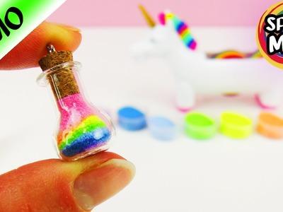REGENBOGEN im Glas   DIY Rainbow im Mini Fläschen als Anhänger   Sablimage Sand in Flasche