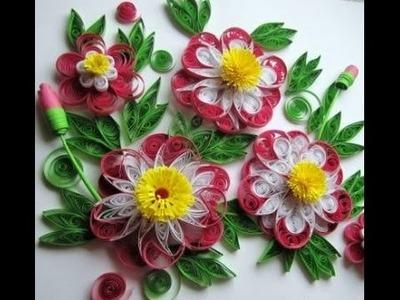Blumen aus Papier selber machen. Quilling Technik