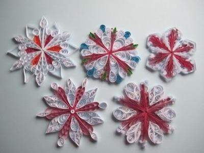 Schneeflocke aus Papier basteln.