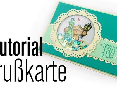 [Tutorial] Modern Vintage Grußkarte mit Schüttelelement | Anleitung DEUTSCH