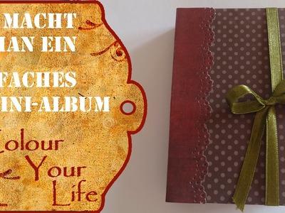 Wie macht man ein Mini Album aus nur einem Papierbogen - Anfänger