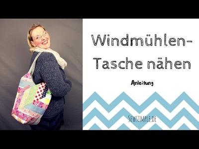 Anleitung: Windmühlentasche nähen   Chevron-Look