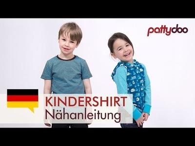 Kindersachen nähen - Shirt.Pullover mit Kapuze und Bündchen