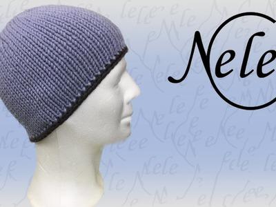 Mütze. Haube stricken: Einfache Strickmütze mit Häkelrand, und Fütterung Teil 1, DIY by NeleC.