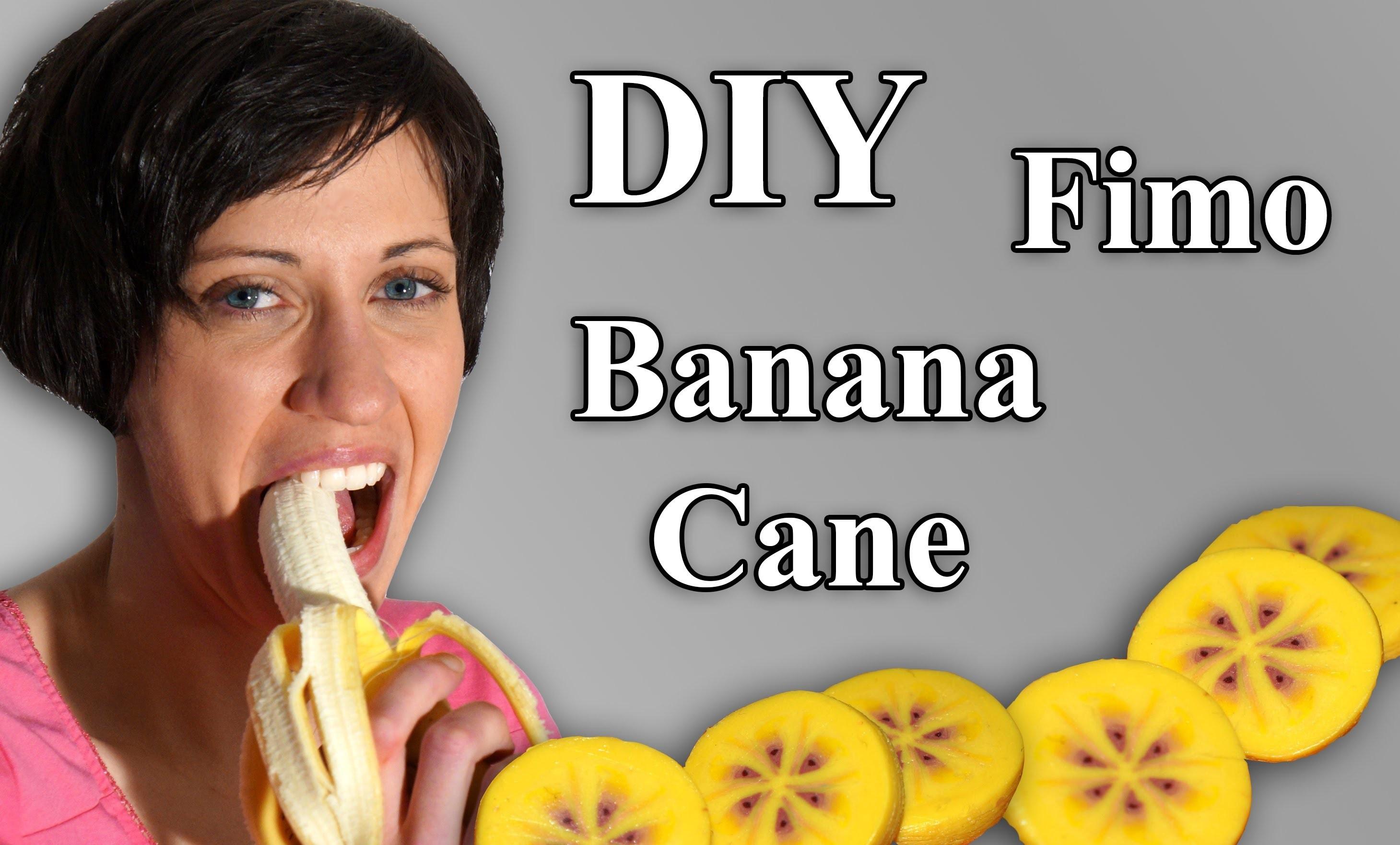 FIMO Bananen Cane: Polymer Clay Banana - Tutorial [HD.DE] (EN-Sub)