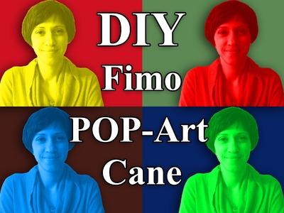 FIMO (Cane) Pop Art Frosch: Polymer Frog - Tutorial [HD.DE] (EN-Sub)