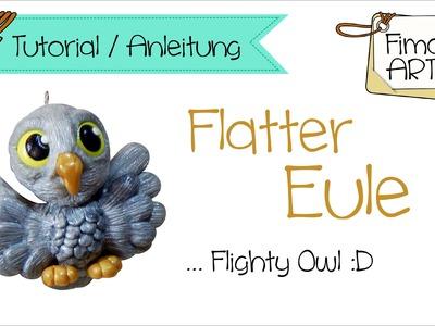 [Fimo. Polymer Clay Tutorial] .  Flatter Eule .  Fimora Art