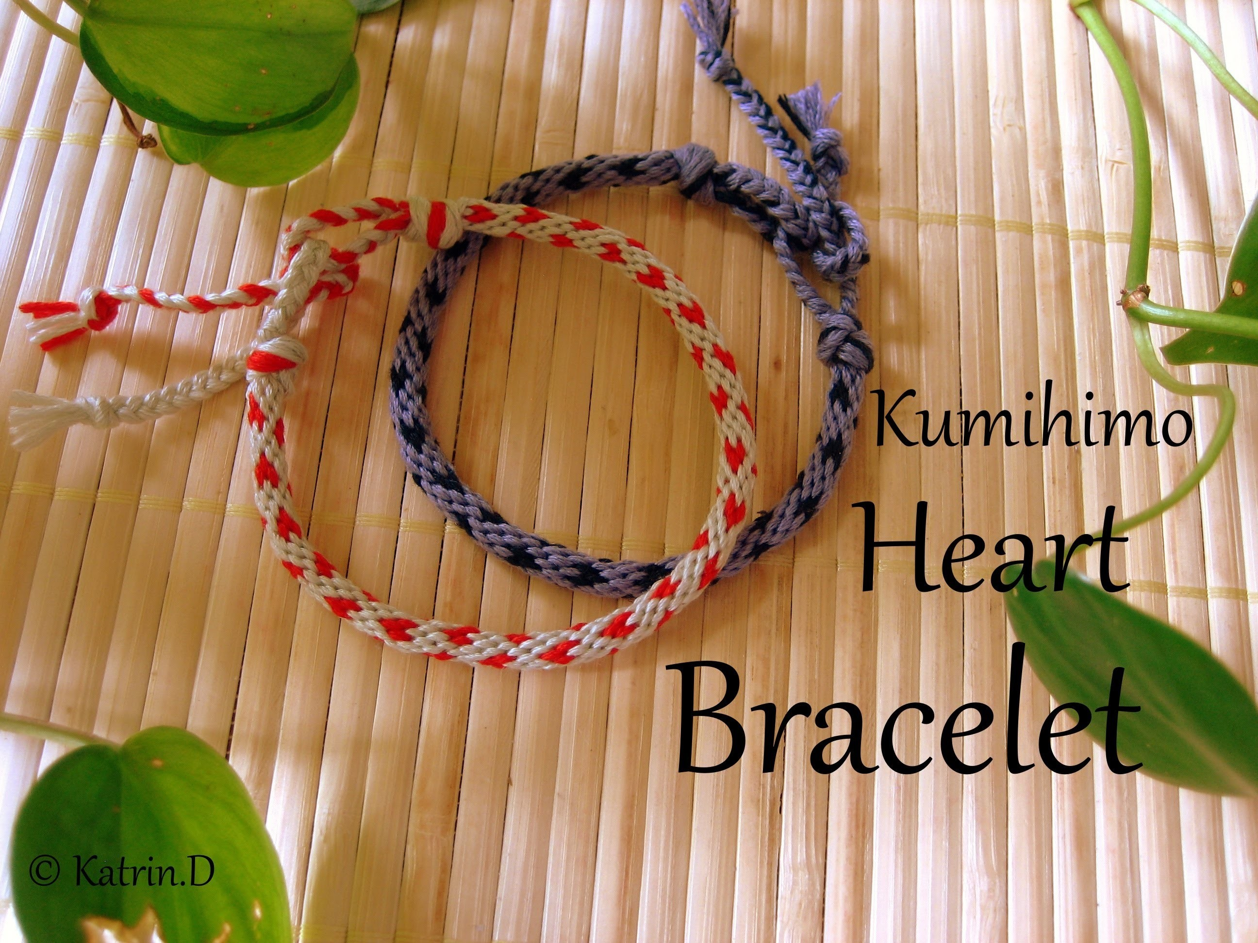 Kumihimo Frindship Bracelet Heart´s