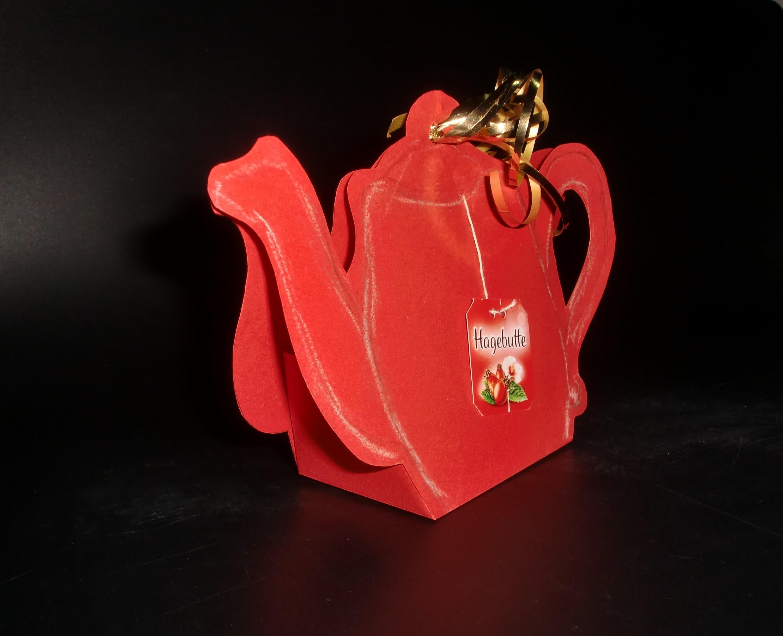 Teapot Paper-ART: Teekanne aus Papier - Bastelvorlage [HD.deutsch]
