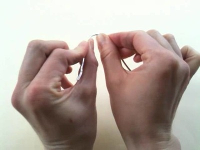 1. Arbeitsschritte für das Biegen einer Figur aus Draht