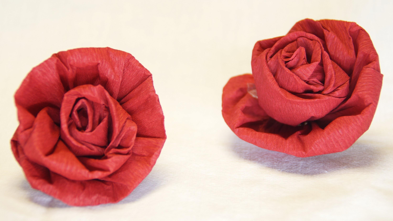 blumen basteln rose aus krepppapier feinkrepp basteln how to make crepe paper roses flowers. Black Bedroom Furniture Sets. Home Design Ideas