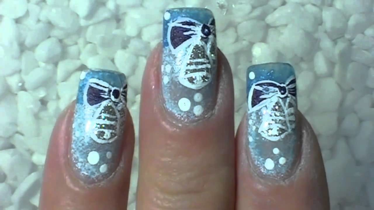 "Christmas Nail Art  Design ""Jingle Bells""  ☖ Weihnachtsnägel - Glocken ☖ Schwammtechnik"