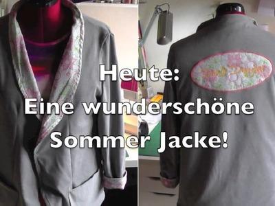 DIY | Sommer Jacke selber nähen | Nähen für Anfänger | Tutorial
