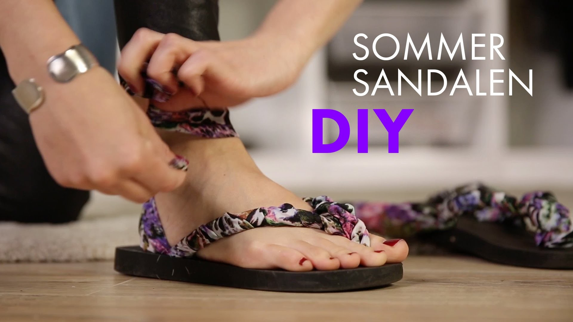 DIY Sommersandalen aus Flip Flops ♥ Upcyling Tutorial ♥ How To Wear STYLIGHT