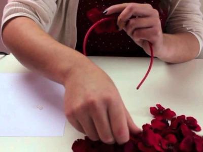 DIY Tutorial Blumen Haarreif
