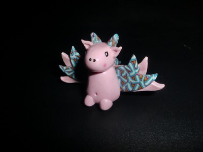 FIMO Kawaii-Drache: Polymer Dragon - Tutorial [HD.deutsch] (EN-Sub)