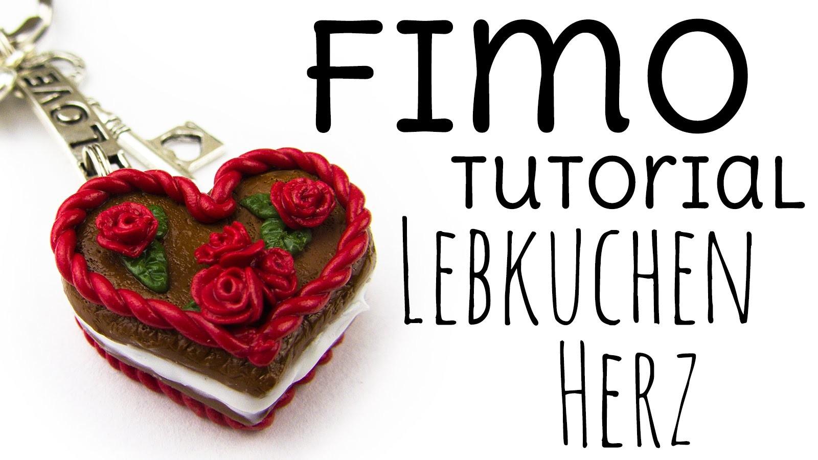 """[Fimo Tutorial] Lebkuchen Herz mit """"Füllung""""   Geschenkidee für Verliebte & die beste Freundin"""