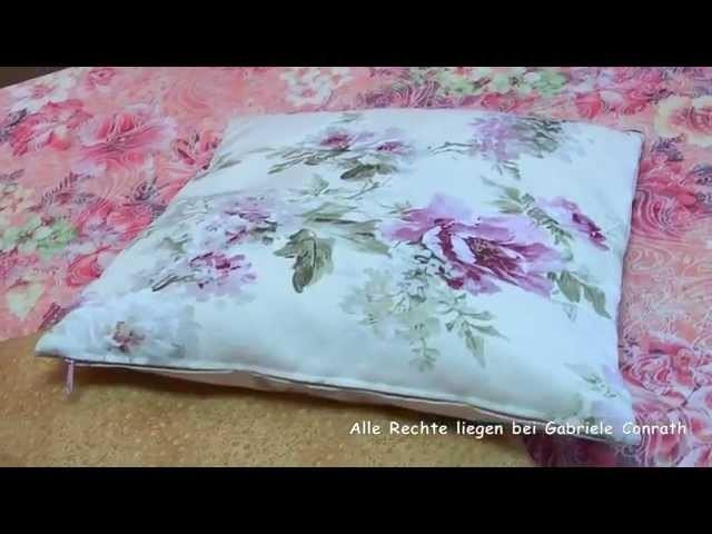 Kissenbezug mit Reißverschluss in 2 Versionen nähen DIY