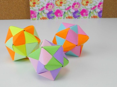 Origami Stern Ball Falten Tutorial modular 12 Star Folding Tutorial. Origami Ideen DIY Anleitung