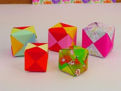 ORIGAMI WÜRFEL DIY. Cube Origami Tutorial How To. Würfel Falten Anleitung deutsch