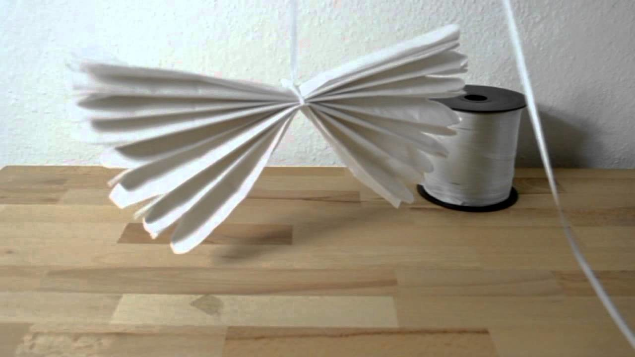 Pompons aus Seidenpapier - Bastelanleitung