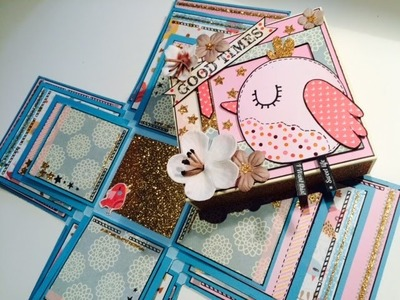 Scrapbook ---Explosion Mini Album---DIY---[tutorial]