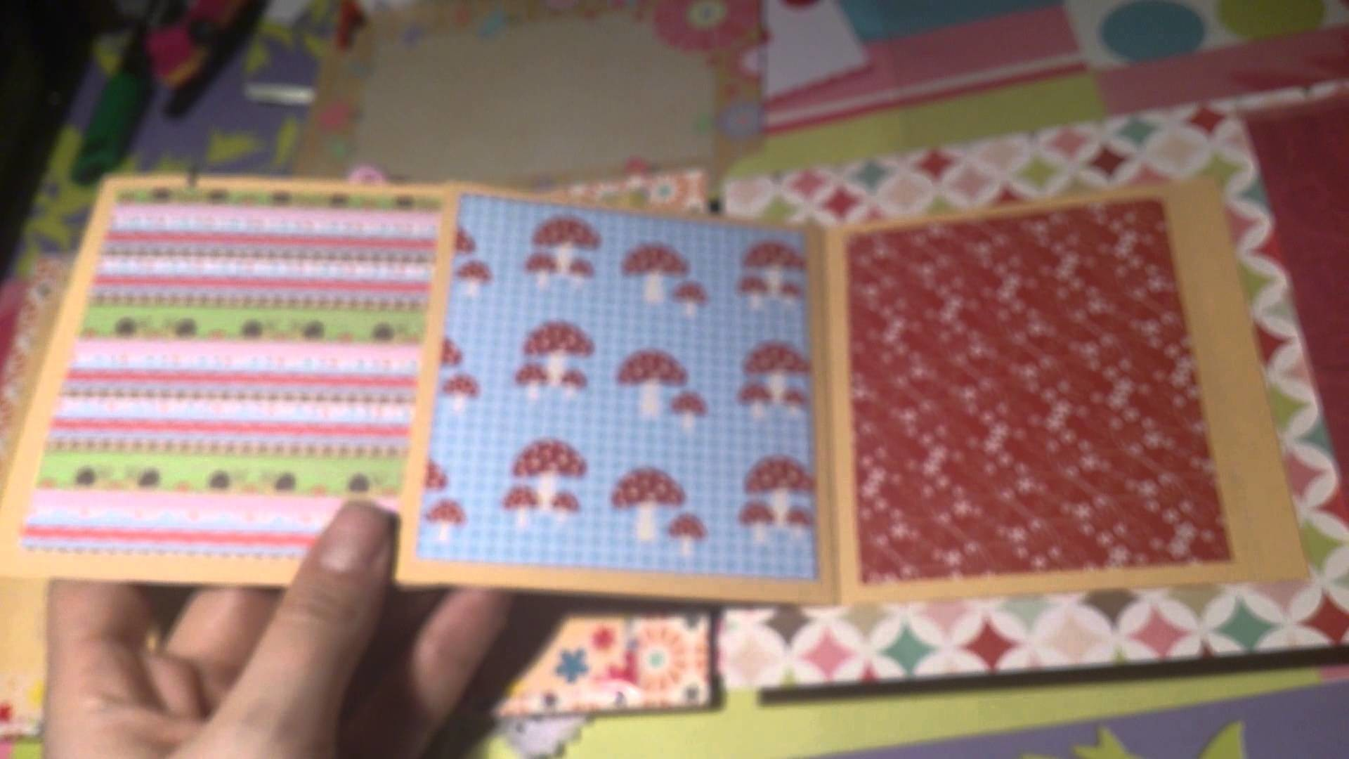 Scrapbook Mini Album #2 mit fimo-Accessoire ;)