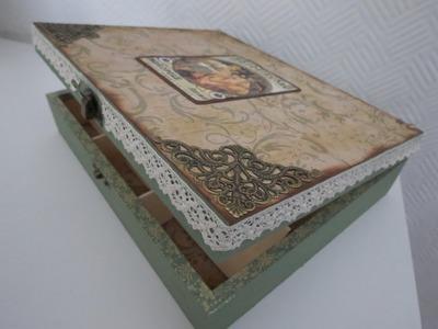 Teebox verschönern * Shabby. Vintage