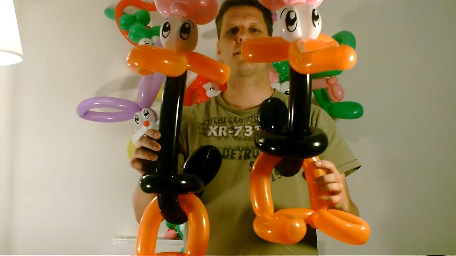 Ballon große Ente, balloon big duck, Modellierballon Ballonfiguren Animals Tiere