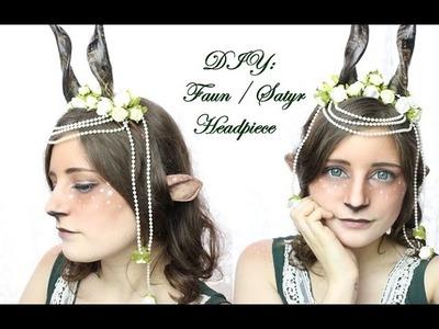 DIY: Faun. Satyr Hörner bzw  Headpiece Tutorial |