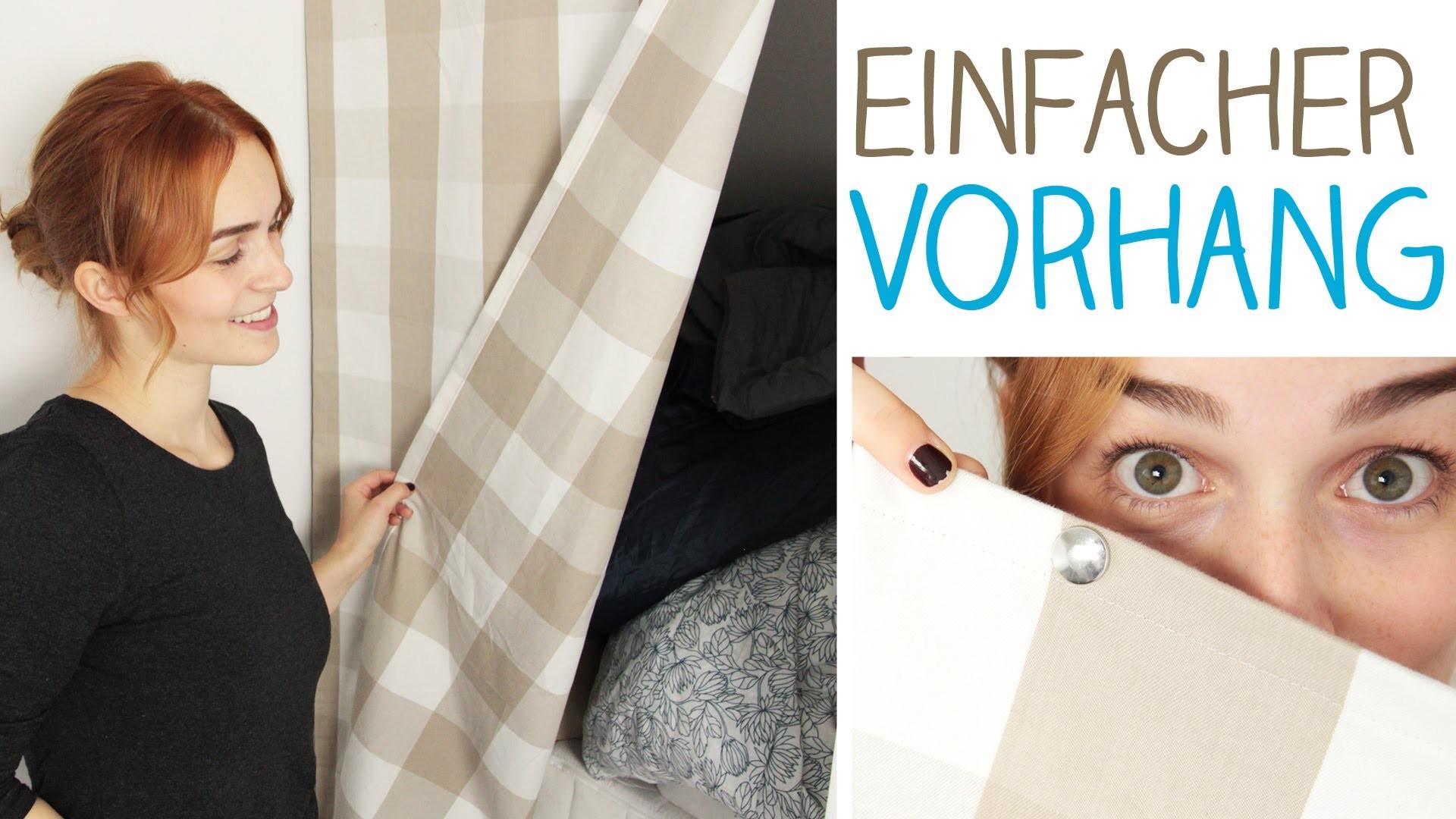 DIY Vorhang mit Druckknöpfen anbringen? ohne Stange.Schiene - Nische verstecken - Briefecke nähen