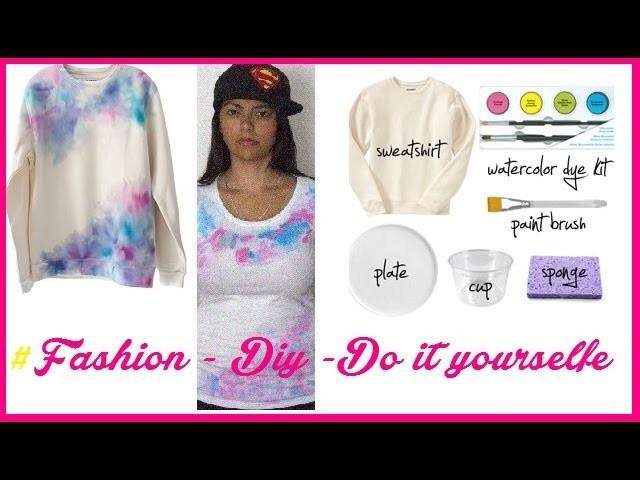 DIY - Wasserfarben Longsleeve Tutorial Do it yourself #MustTry