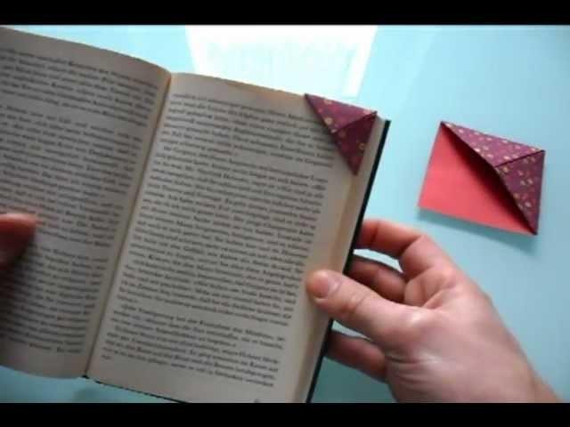 Einfaches Origami Lesezeichen